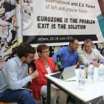 Inge Höger, MdB der Linken, spricht zum Forum