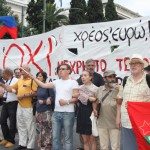 Internationale Gäste bei Nein-Demo