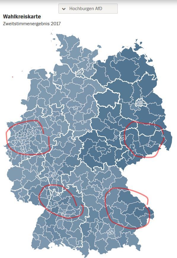 AFD Hochburgen