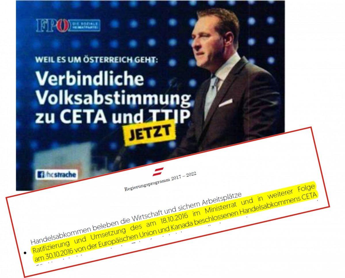 CETA: Ein wunder Punkt der Kurz-Strache'schen Privilegierten-Regierung