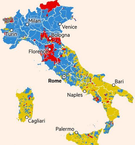 Italien: EUro-Regime schwer geschlagen
